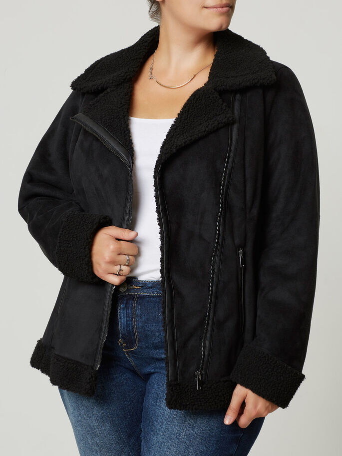 BLOUSON VESTE, Black, large