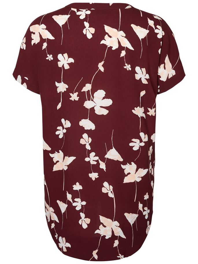 HIGH-LOW MET BLOEMENPRINT TOP MET KORTE MOUWEN, Winetasting, large