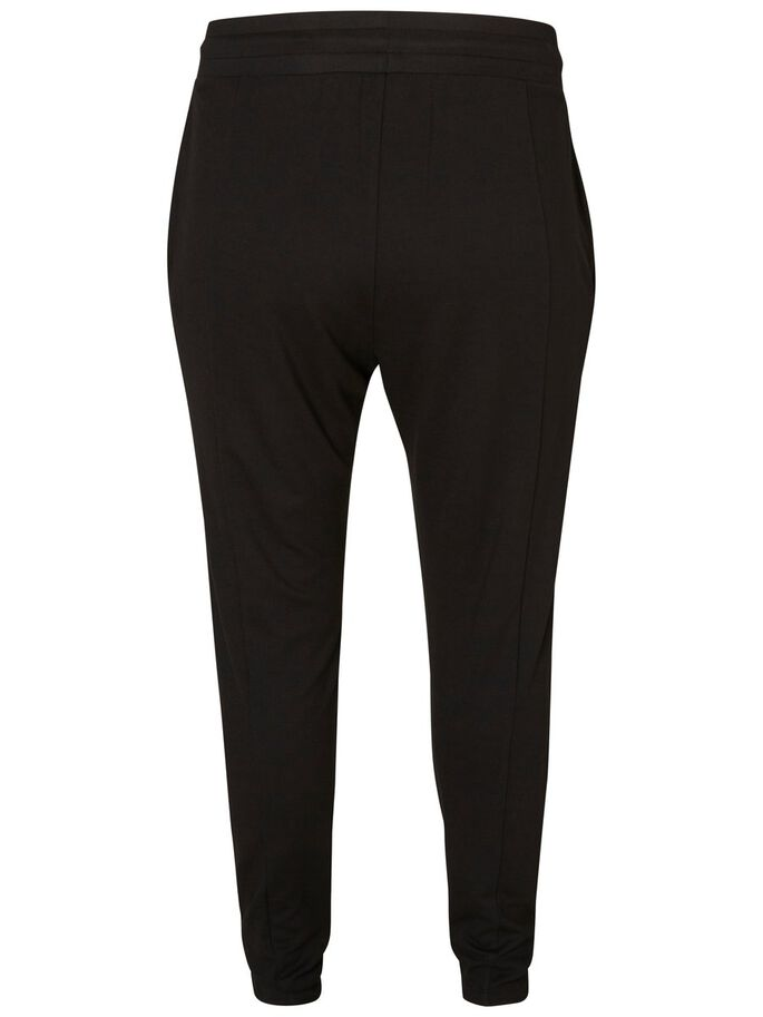 NORMAL WAIST SWEAT PANTS, Black, large