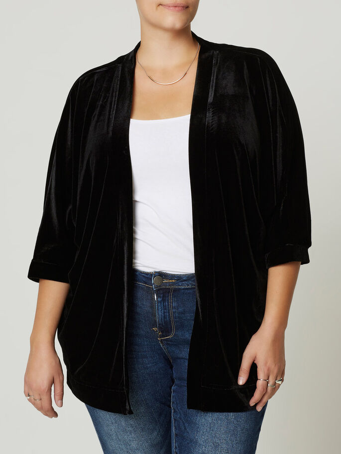 LOOSE CARDIGAN, Black, large