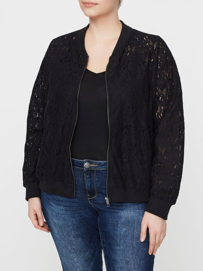 LACE JACKET, Black, large