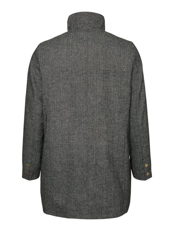 WOOL JACKET, Medium Grey Melange, large