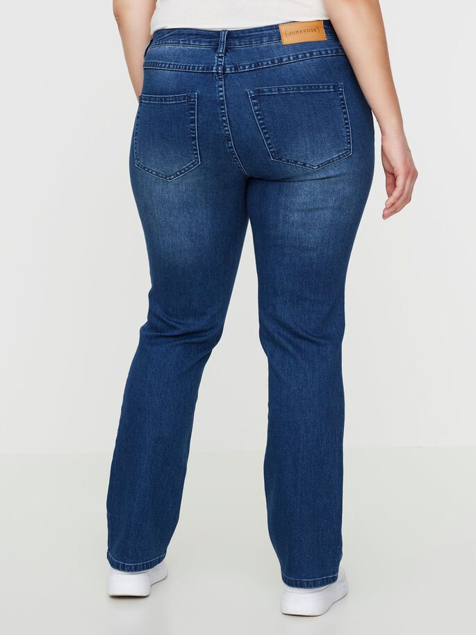 STRAIGHT JEANS, Dark Blue Denim, large