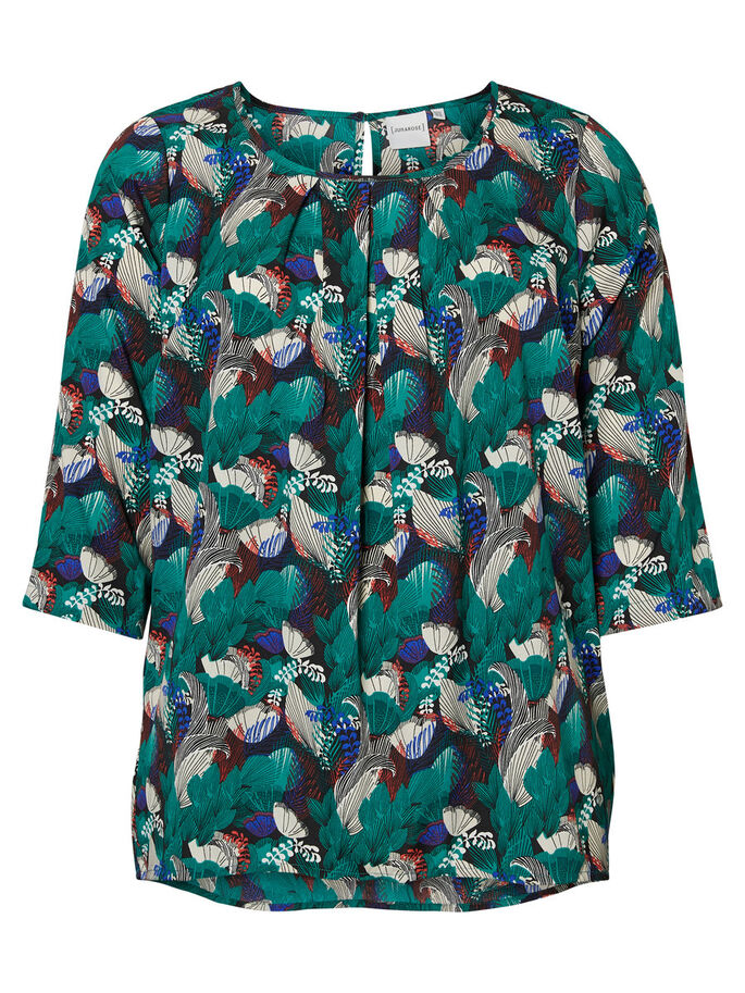 3/4-MOUW BLOUSE, Cadmium Green, large