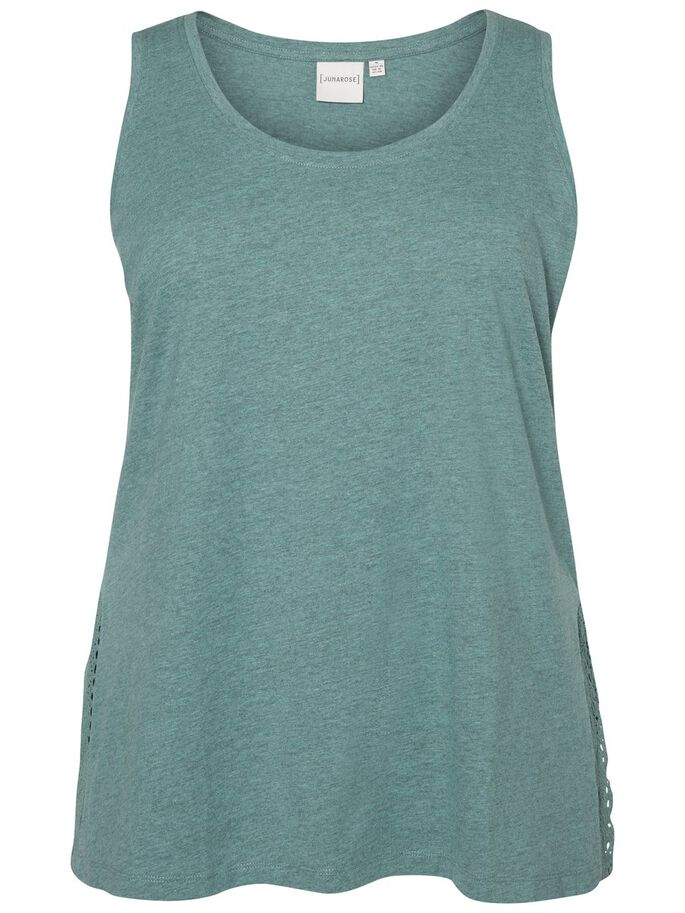 WIDE STRAPS TANK TOP, Oil Blue, large