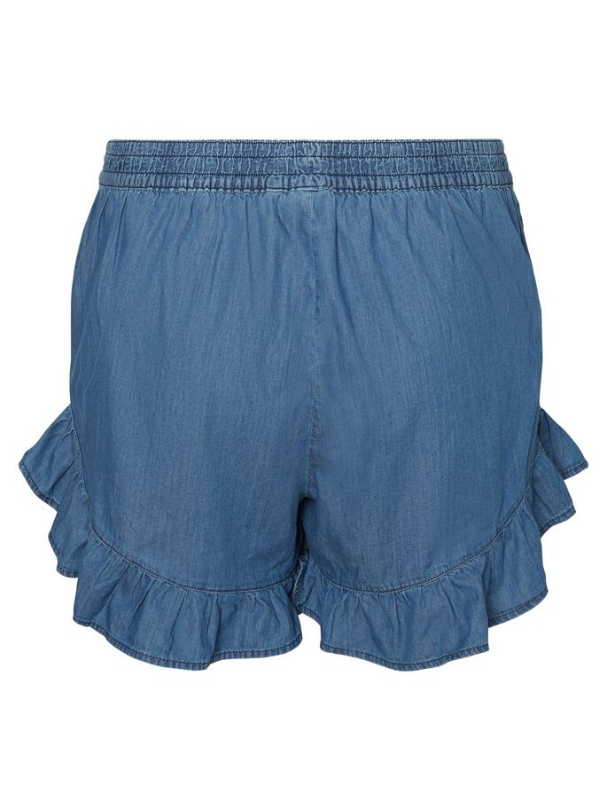 RUCHE SHORTS, Medium Blue Denim, large