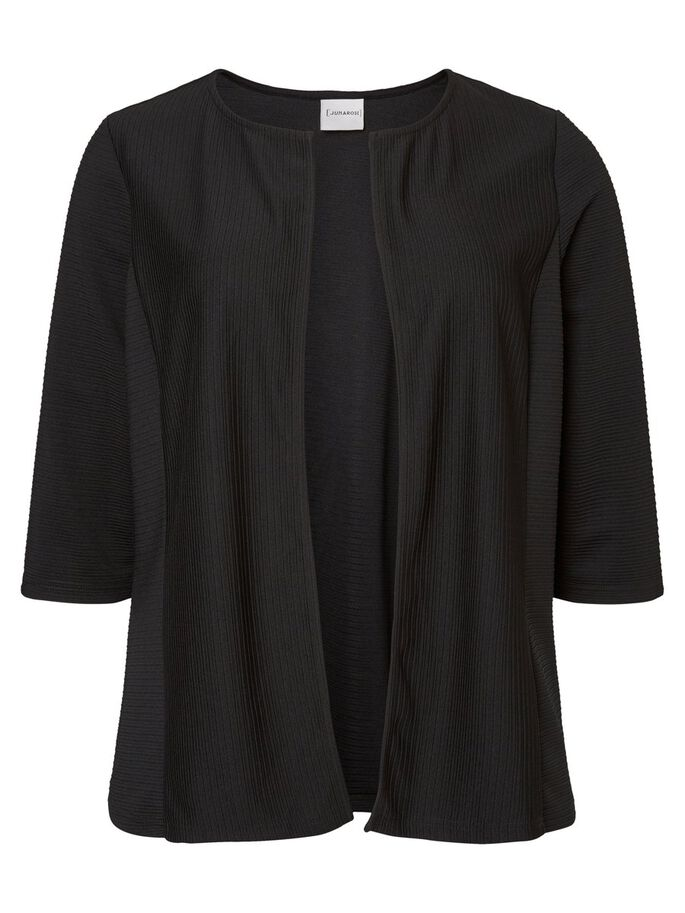 3/4 SLEEVED CARDIGAN, Black Beauty, large