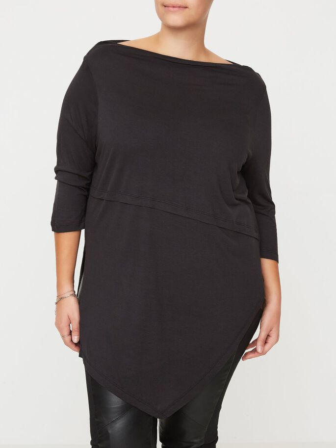 LANG BLUSE, Black, large