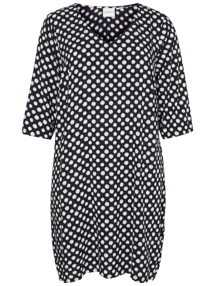 3/4 SLEEVE DRESS, Black Iris, large