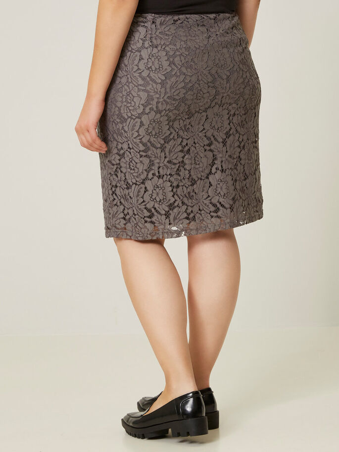 LACE SKIRT, Pewter, large