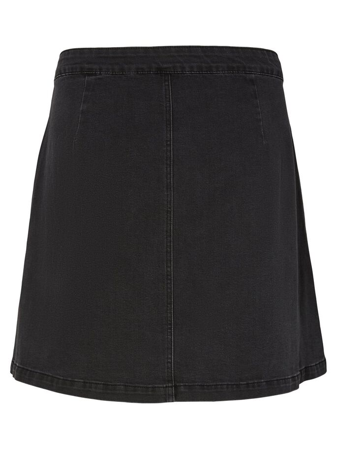 DENIM SKIRT, Dark Grey Denim, large