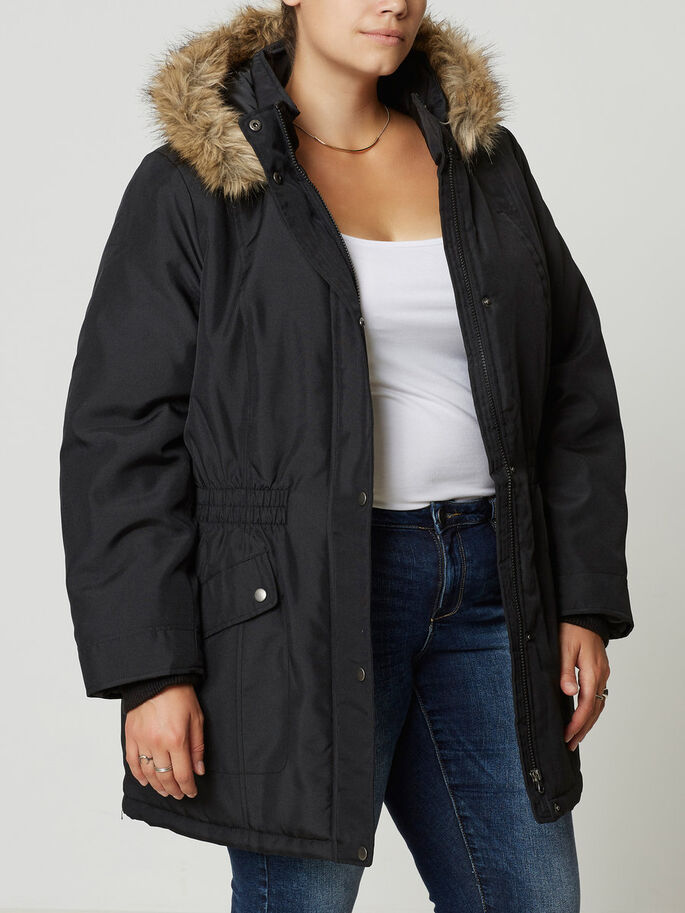 PARKA VESTE, Black, large