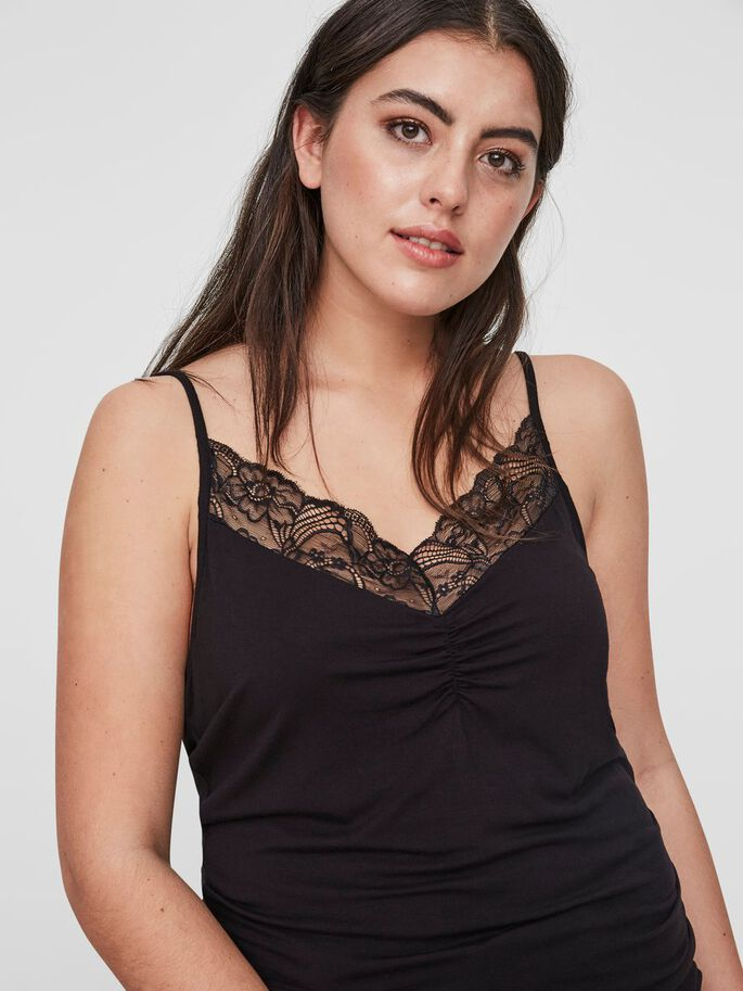 SPITZEN- TOP, Black, large
