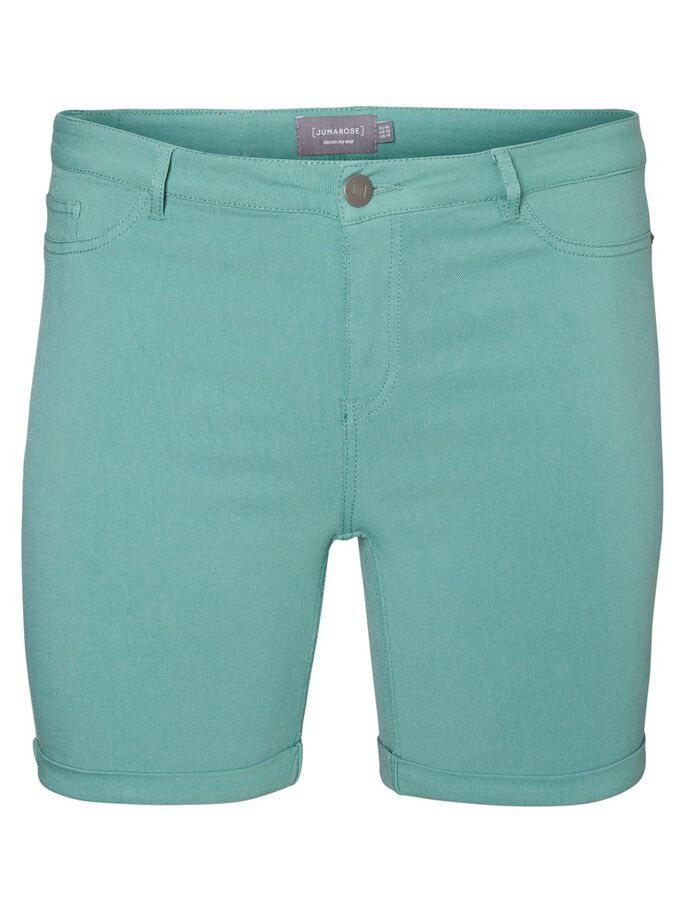 SLIM FIT SHORTS, Oil Blue, large