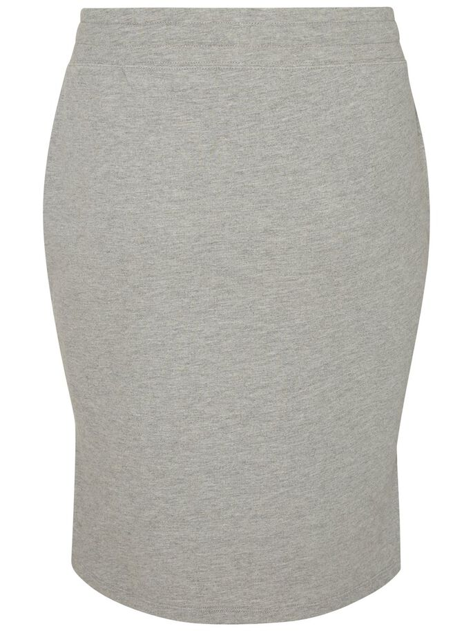 SWEAT JUPE, Light Grey Melange, large