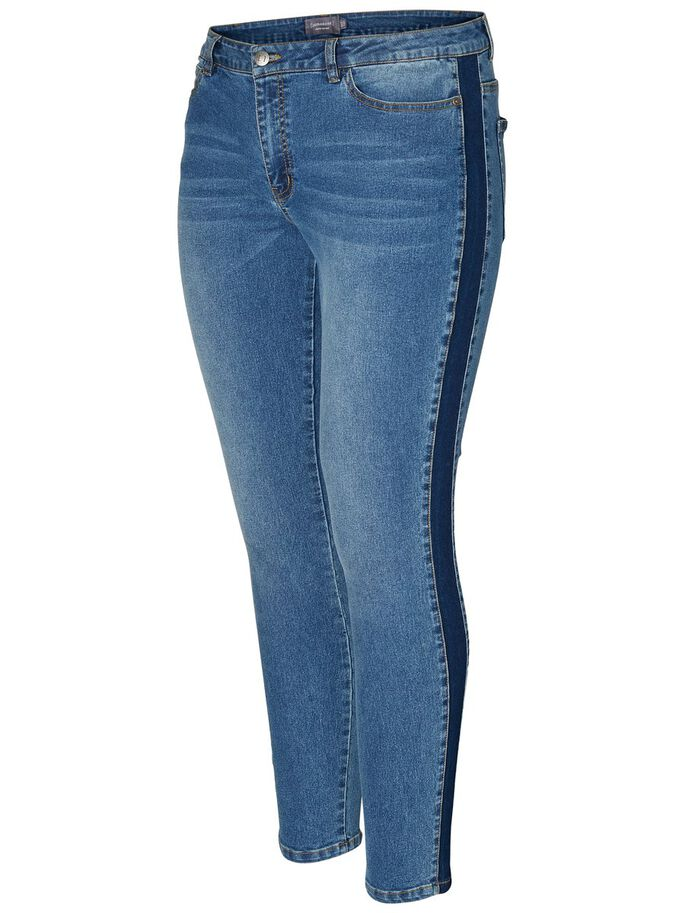 SLIM JEANS, Medium Blue Denim, large