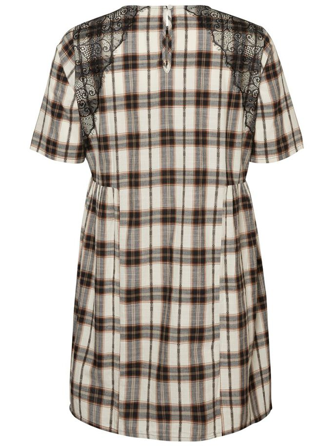 CHECKED DRESS, Black Beauty, large