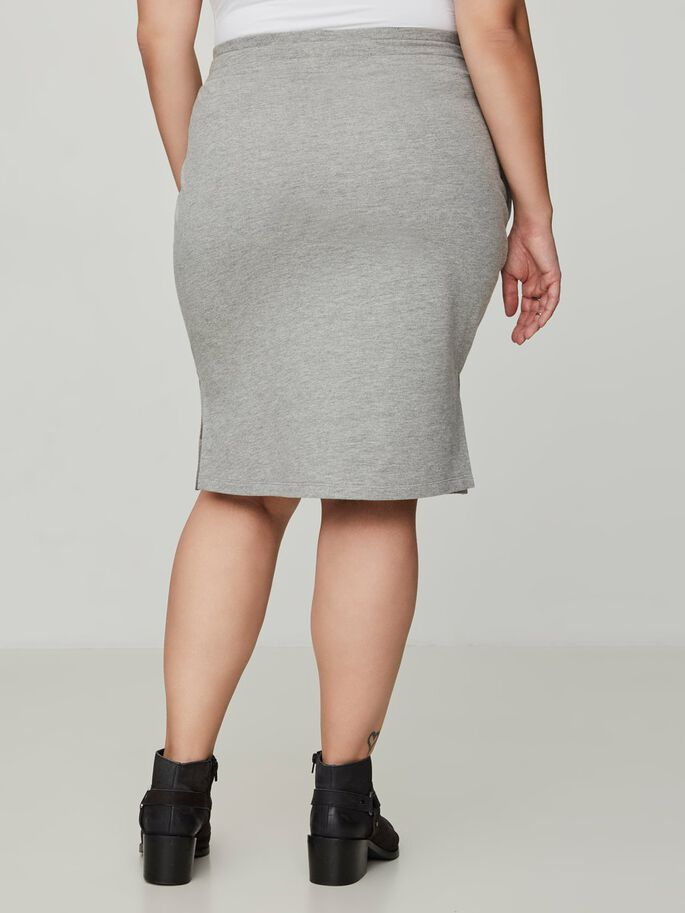 SWEAT SKIRT, Light Grey Melange, large