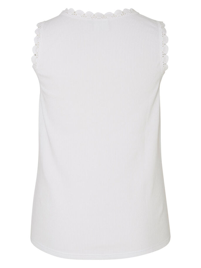DENTELLE TOP SANS MANCHES, Bright White, large