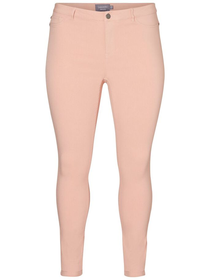 SLIM JEANS, Peach Beige, large