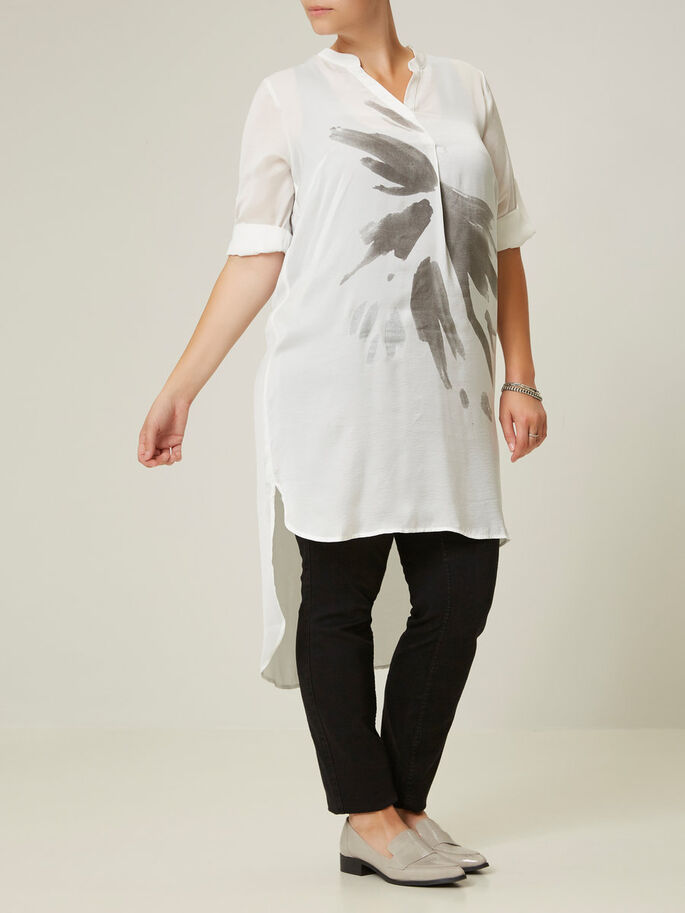3/4 SLEEVED TUNIC, Snow White, large