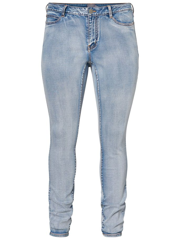SLIM SLIM FIT JEANS, Medium Blue Denim, large